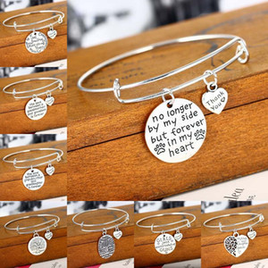 Wholesale Fashion Jewelry quot No longer by my side but forever in my heart thank you quot Adjustable Wire Expandable Bangle Pet Memorial Jewelry D890S