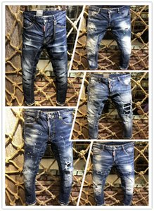 2019, the new brand fashion European and American summer men's wear jeans are men's casual jeans A189