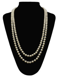 Women's Great Gatsby Faux Pearls Flapper Beads Cluster Long 1920s Necklace 59''