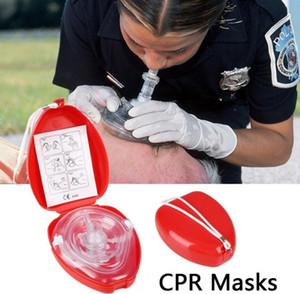 Reusable CPR Resuscitator Rescue First Aid Masks Breathing Mask Mouth To Mouth With One-way For Emergency Use CPR Training Tool on Sale