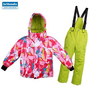 Wholesale Boys Girls Ski Suit Waterproof Windproof Snow Pants Jacket A Set of Winter Sports Child Thickened Thermal Clothes