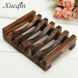 Handmade Wooden Bathroom Wood Soap Dish Box Container Kitchen Tub Sponge Storage Cup Rack Soap Holder