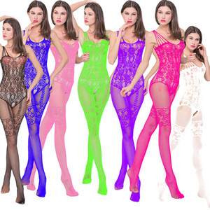 Wholesale Sexy Lingerie Women Erotic Lingerie Sex Products Sexy Costumes Color Underwear Slips Fishnet Intimates Dress Sleepwear