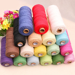 3mm x 200m Colorful Cord Rope Natural Beige Cotton Cord Twisted Craft Macrame String DIY Home Textile Decorative supply