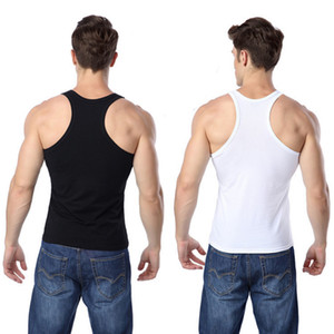 Wholesale Men Tank Tops T Shirts Sleeveless Tees Shirts Undershirts Bodybuilding Singlets Stringer Muscle Vest Tight underwear