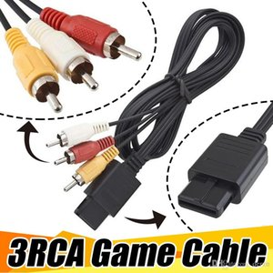 Wholesale 3RCA m FT AV TV RCA Video Cord Cable For Game Cube For SNES GameCube For N64 Game Cable