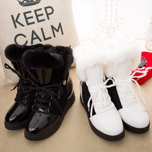 Wholesale Autumn and winter new style women velvet warm snow boots European and American fashion student shoes fur short boots