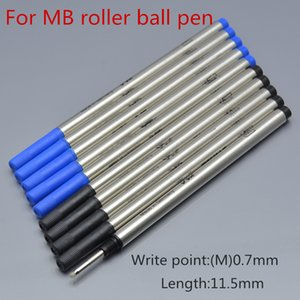 Hot Sell-10 pcs High Quality black or blue 0.7mm Pen Refills for MB roller ball pen stationery school office write smooth 710 ink refills on Sale