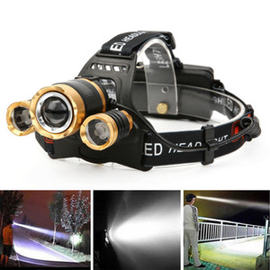 XML T6 LED Headlight Headlamp 4 Mode Head Light Zoom Torch 18650 Battery Charger Super Bright Induction Head Lamp