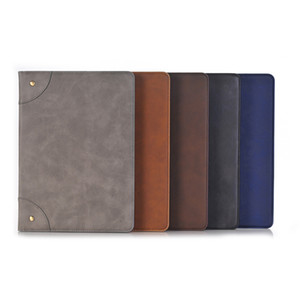 Wholesale Business Flip PU leather Cover Kickstand Case for New iPad 9.7 5 6 Air 1 2 Mini 1 2 3 4 Pro9.7 10.5 12.9 Samsung T590 T595 T830 T835 OPP