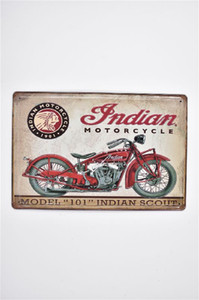 ingrosso ristoranti indiani-Indiano moto Vintage D in rilievo rustico Home Bar Pub Hotel Restaurant Coffee Shop casa metallo Retro metallo Targa in metallo