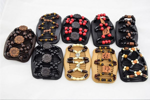 HOT NEW Mixed Different Styles Magic Butterfly Wood wooden Beads Double Magic Fashion Women Hair Clip  Comb Epacket Free