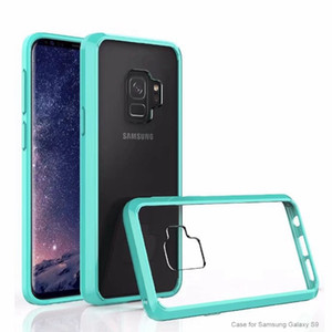 Wholesale Armor Case For Samsung Galaxy S9 Plus S9 Ultra thin Invisible TPU PC Acrylic Crystal Protective Sleeve Cell Phone D