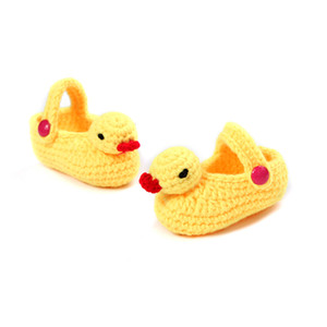 Wholesale Cartoon First Walkers Boys Girls Shoes Duck Infant Sneakers Phoyography Props New Crochet Footwear Baby Brand First Walker Shoes pairs pc