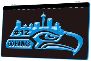 Wholesale LS1571 b Seattle Seahawks Go Hawks Man Bar D LED Neon Light Sign Decor Dropshipping colors to choose
