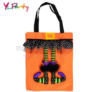 Halloween Party& Holiday Trick Treat Tote Bag Halloween Candy Totes Bag Elf Candy Bags Ghost Festival Decorations