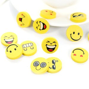 Cute smiling face emoji eraser lovely Eraser funny face smile style rubber Kids gift creative stationery C5517
