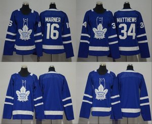 Wholesale 2018 Men Women Youth Kids Toronto Maple Leafs Mitchell Marner Auston Matthews Blank Blue Jerseys All Stiched Hockey Jersey Boy Girls