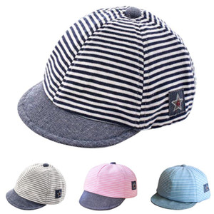 Wholesale Baby Boy Girl Autumn Hats Children Baseball Caps Peaked Beret Hat Lovely Stripe Cap BM88