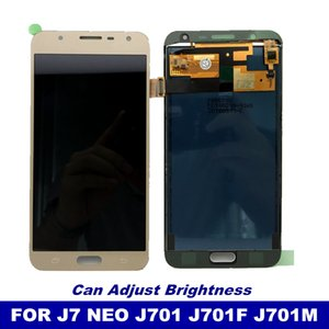 Phone LCD With Brightness Control For Samsung Galaxy J7 neo J701 J701F Display Touch Screen Digitizer Assembly LCD Replacement on Sale