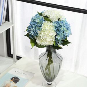 Wholesale Artificial Flowers silk hydrangea fake Flowers Party Home decor table Centerpieces Wedding Decoration fake Floral Single stem Bridal Bouquet