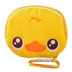 Wholesale Cartoon Animal Foldable Shopping Tote Folding Reusable Eco Bag waterproof shopping bag Duck Panda Fog Pig