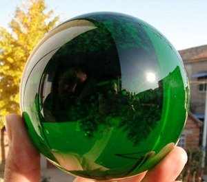 Wholesale natural crystal ball sphere stands for sale - Group buy Asian Rare Natural Quartz Green Magic Crystal Healing Ball Sphere MM Stand