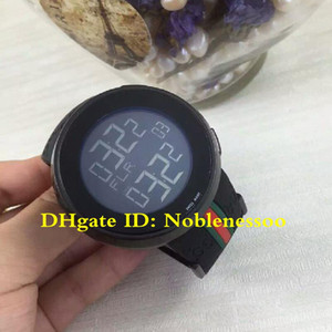 ingrosso guarda la parte superiore del quarzo-Hot with Box Nero Digital Quartz ya114208 Black Gomma Band Movimento al quarzo Top Sport Move Move Move Guarda gli orologi da uomo