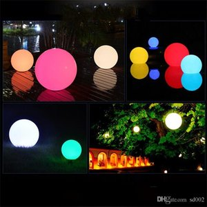 Wholesale Colourful Discoloration Solar Light Energy Float Lamp Ball Led Illuminated Swimming Pool Water Supplies Lights Outdoor Bar Table fd jj