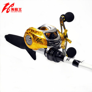 Wholesale Fishing Spinning Reels Hlw Gold Brand Bb Baitcasting Reel Left Right Hand Saltwater Fishing Reels Carbon Lure Bait Casting Reel Baitcaster
