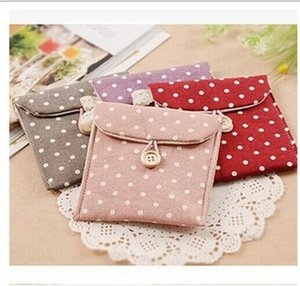Wholesale 1PC Korean Style Cotton Sanitary Napkin Bag Organizer Storage Hold Pads Carrying Bag Small Articles Gather Pouch Case