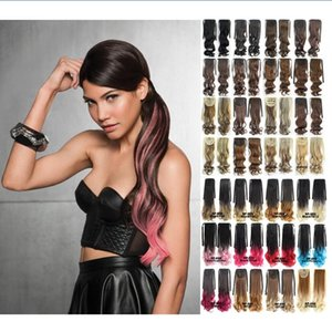 Wholesale Adding Length and Filling A unique Wrap Around Wire Finishes Ponytail With the Look of a Natural Knot Synthetic Hair Hairpiece
