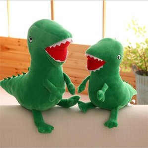Wholesale Soft Funny Children Toys Green Dinosaur Plush Doll Toy Novelty Cartoon Stuffed Animals Dolls For Birthday Party Gift xl BB