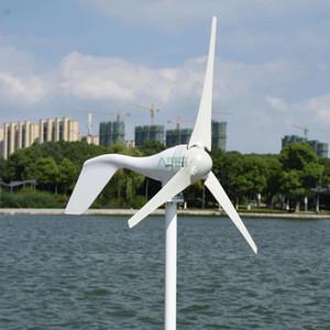 On Sale! 400w 12v 24v 5 or 3 blades horizontal wind turbine generator for home   boat   garden