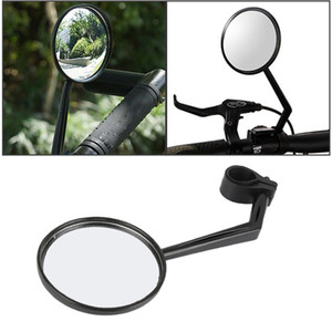 Wholesale 1pc Adjustable Motorcycle Bicycle Handlebar End Glass Flexible Wide Angle Bike Rotatable Mirrors Rearview Reflective Cycling kit