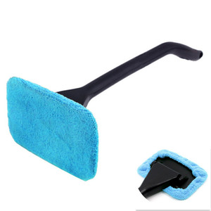 Microfiber Auto Window Cleaner Long Handle Car Washer Brush Windshield Glass Wiper Cloth Cleaning Brush Tool Washable Handy Rag