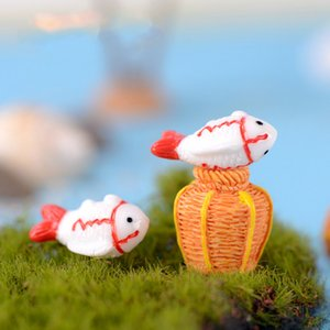 Wholesale Simulation Creel Fish Mini Resin Craft Pendant Schoolmate Gift Parent child Toy Accessories Miniature for Aquarium Fairy Garden Decoration