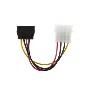 Wholesale SATA Power Cable Splitter Molex pin IDE to Serial ATA pin Male Female Y Hard Drive Cables