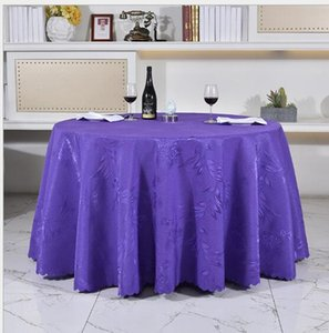 Wholesale Round Table Cloths Wedding Party Decorations Tables Banquet Nappe Runner Colorful Tablecloth Home Antependium Factory Direct