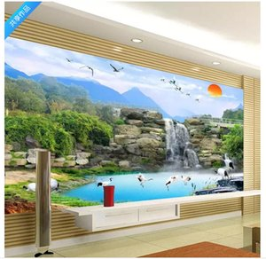 Wholesale Customized photo wall mural wallpaper Elegant Chinese style TV wall background wallpaper for walls d home decor