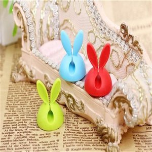 Wholesale Lovely Rabbit Ears Wire Fixer Silica Gel Desktop Viscose Bobbin Winder For Household Sundries Home Office Computer hx ff