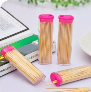 Wholesale Bamboo Toothpick with Pocket Fashion Lighter Shape Toothpick Holder shaped Romantic creative toothpick Box Portable Carry