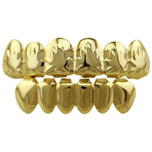 Wholesale Bottom Price Tooth Grillz Set Hip Hop Body Jewelry Eco friendly Maple Tooth Caps Copper Teeth Grills For Halloween Gift Best selling