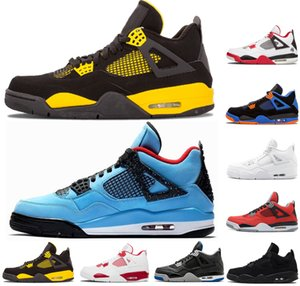 Wholesale 4 Travis Cactus Jack Blue men basketball shoes s black white red Toro Bravo Green Glow CAVS Mens designer shoes sports sneakers