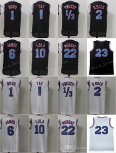 Wholesale Space Jam Jersey Movie Tune Squad Looney Daffy Duck Bill Murray Lola Bugs Bunny TAZ Tweety Michael LeBron James Basketball Curry Black White
