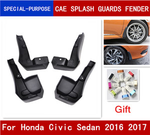 Wholesale honda civic fender resale online - 4Pcs Set Car Mudflaps Splash Guards Mud Flap Mudguards Fender For Honda Civic Sedan