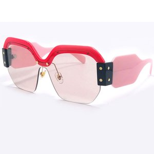 Wholesale Newest Fashion Unique Design Square Sunglasses for Women Half Frame Brand Designer Sun Glasses Shades UV400 Y258