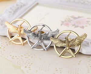 Wholesale Retro Movie Jewelry The Hunger Game Bird Brooches pin metal Mockingjay Pins jewelry for men women Halloween gift R089