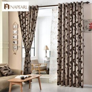 Wholesale European jacquard curtains kitchen door balcony curtains fabrics for window shade panel modern curtain living room