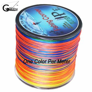 Wholesale Gaining 8 strands Braided Fishing Line Japan Multifilament PE Braid Line One Color Per Meter PE Fishing 10LB - 200LB